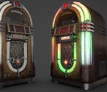 Lowpoly Wurlitzer Jukebox