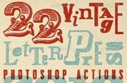 Vintage Letterpress Photoshop Actions