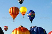 Many Hot Air Balloons