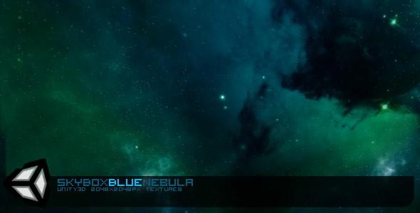 Skybox Blue Nebula