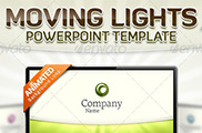 Moving Lights  PowerPoint Template