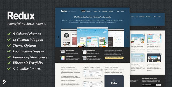 Redux: Business &amp; Portfolio WordPress Theme
