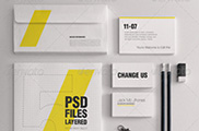 Realistic Stationery Mockups Set 1- Corporate ID