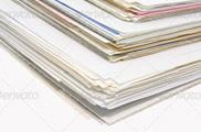 Fotografía de montón de documentos