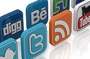 Iconos 3D redes sociales
