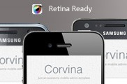 Corvina Mobile Admin HD | HTML5 &amp; CSS3 And iWebApp