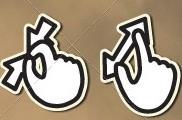 Iconos de gestos multitáctiles