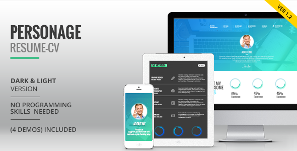 Personage - Easy Setup CV Resume by Pixflow | ThemeForest