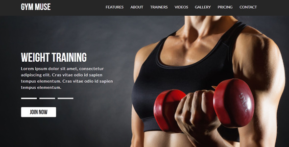 Gym | Muse Template by loveishkalsi | ThemeForest
