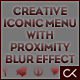 Creative Iconic Menu