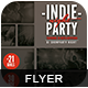Indie Party Night Flyer-Graphicriver中文最全的素材分享平台