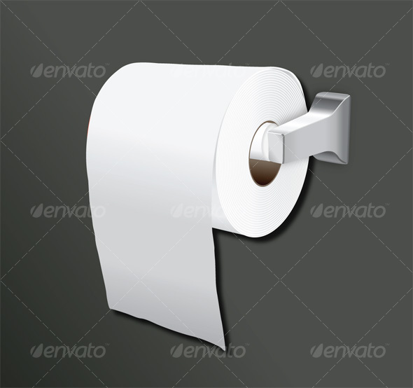 A vector illustration of a roll of toilet paper