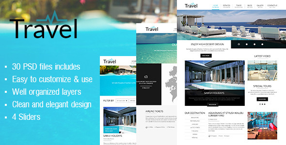 Travel psd template by sakatran themeforest pronofoot35fo Image collections