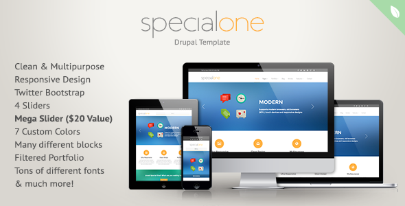 SpecialOne - Responsive Drupal Theme by leaftree   ThemeForest