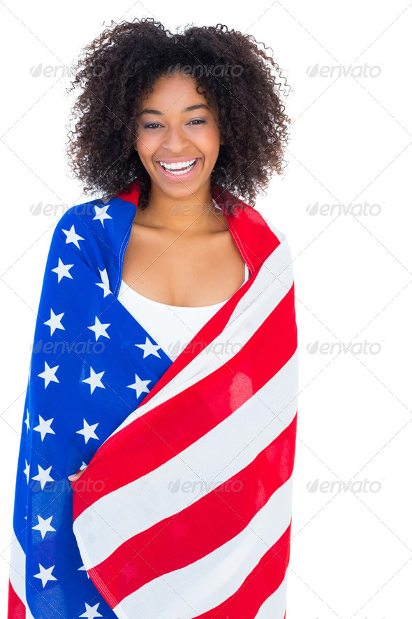photos of girls jumping wrapped in american flag № 13398
