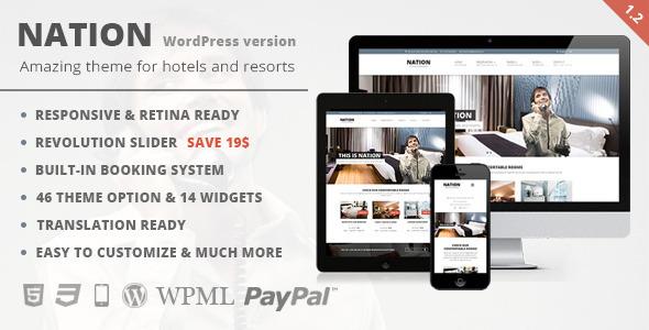 Nation Hotel - Responsive WordPress Theme by raybreaker | ThemeForest