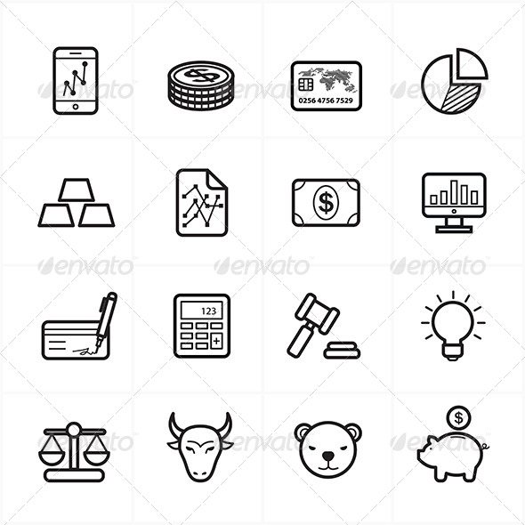Outstanding line vector icons pictures