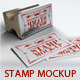 Stamp Business Card Mock-Up-Graphicriver中文最全的素材分享平台