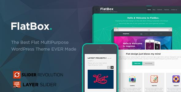 FlatBox - Flat Multipurpose WordPress Theme by PixFort | ThemeForest