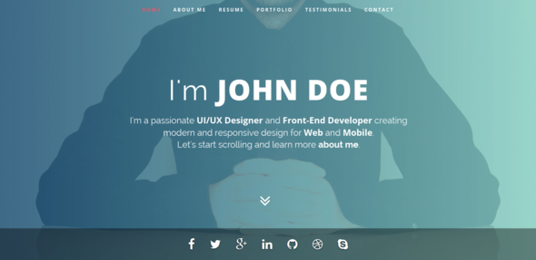 Intima Clean Responsive Resume Template By Bdinfosys ThemeForest - Virtual business card template