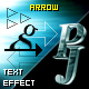 PJ Arrow - text effect component