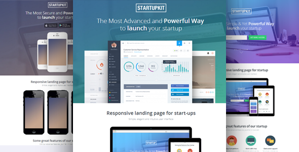 Startupkit Responsive Parallax Landing Template by surjithctly ...