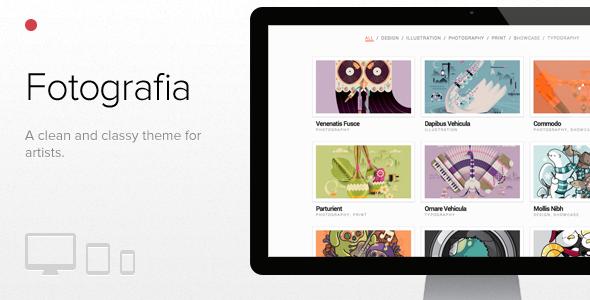Fotografia, WordPress responsive theme for artists by Evolve-Themes