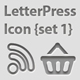 Letterpress Icon {Set 2}