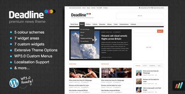 Deadline - Premium WordPress News / Magazine Theme