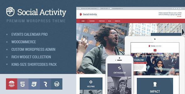 Social Activity - Politics & Activism WP Theme by cmsmasters ...