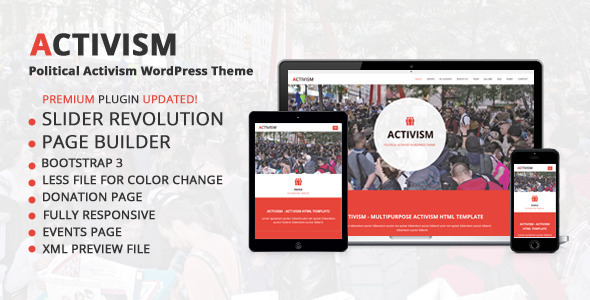 Activism - Political Activism WordPress Theme by rayoflightt ...