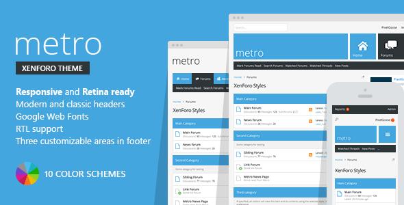 Metro — XenForo Responsive & Retina Ready Theme by PixelGoose ...