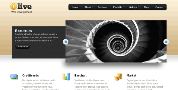 Olive Business & Portfolio WP CMS Theme 15 - 1