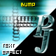 PJ Bump - text effect component