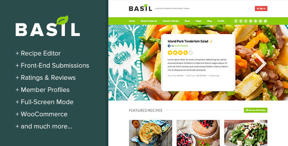 Basil recipes a recipe powered wordpress theme by boxystudio basil recipes a recipe powered wordpress theme miscellaneous wordpress forumfinder Image collections
