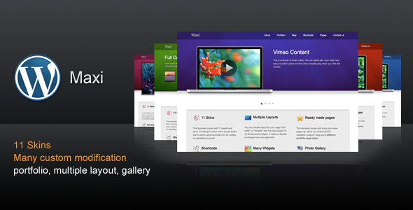 Maxi - The Powerful Business WordPress Template - ThemeForest Item for Sale