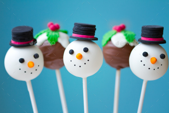 christmas cake pops stock photo images