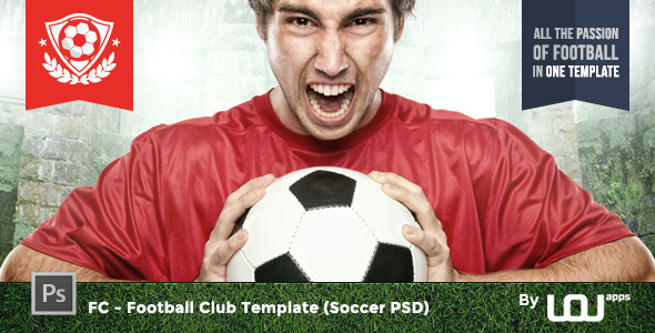 Fc Football Club Template Soccer Psd By Uouapps