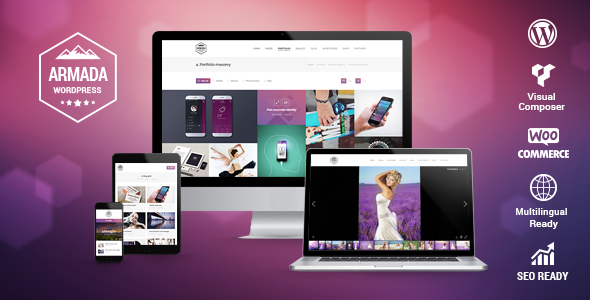 Armada — Multifunction Photography WordPress Theme by Dream-Theme ...