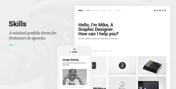 Skills - Portfolio for Freelancers & Agencies by ThemeRain | ThemeForest
