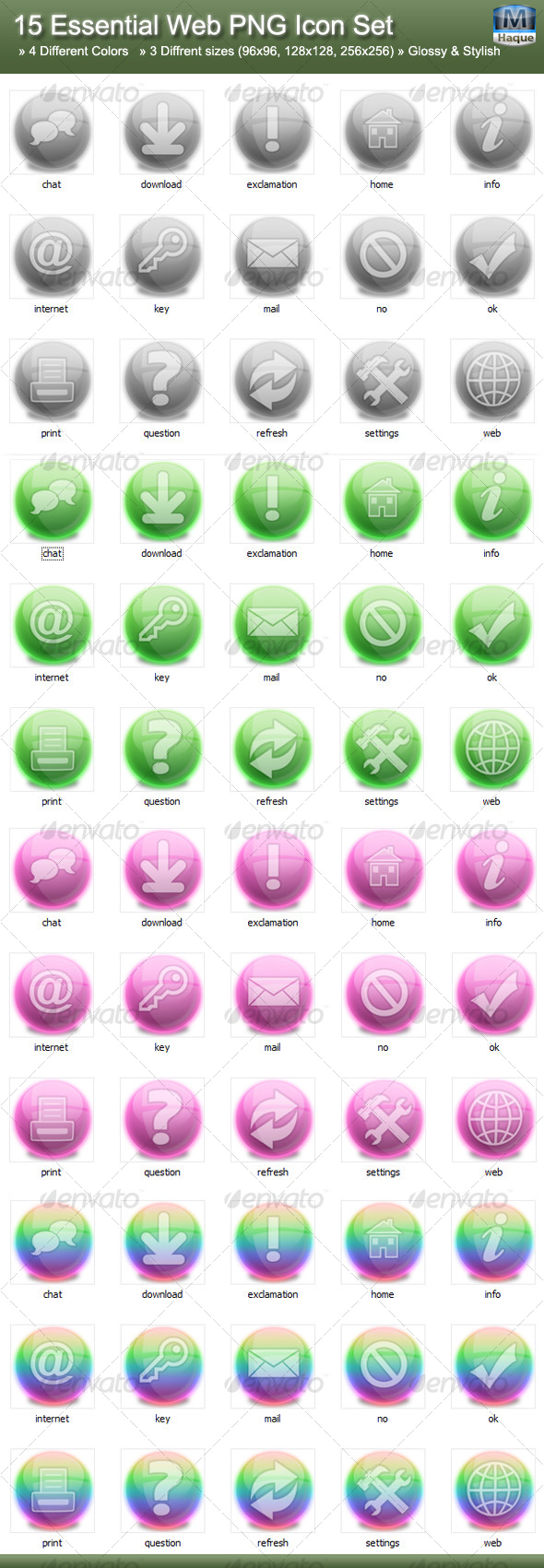 15 Essential Web PNG Icon Set