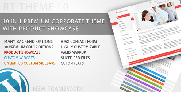 RT-Theme 10 / Business Theme 10 in 1 For WordPress