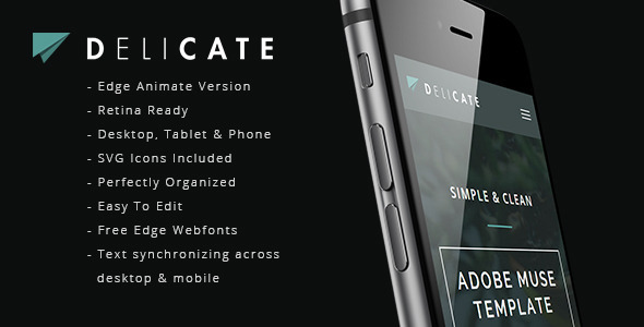 Delicate animated parallax muse template by a2d themeforest pronofoot35fo Image collections