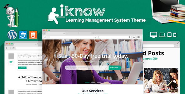 iKnow - Learning Management System WP Theme by CrunchPress ...