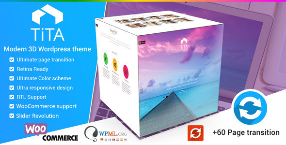 Tita 3D - Modern WordPress Theme by Mymoun   ThemeForest