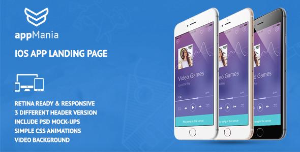 AppMania - Simple App Landing Page by themezinho | ThemeForest