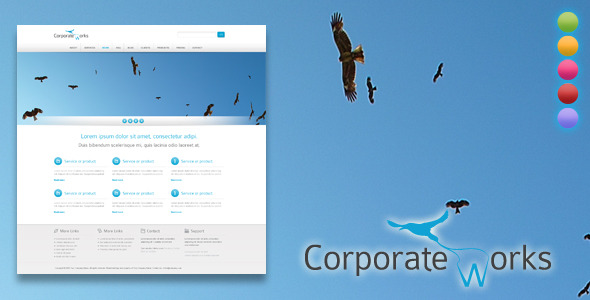 Corporate Works  - WordPress Themes for Sale