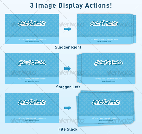 Image Stack / Display Actions | From : graphicriver net
