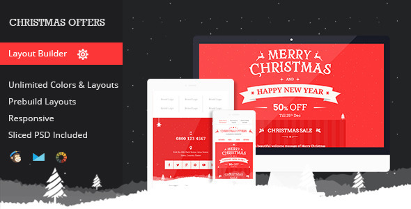Christmas Offers Responsive Email Template By Mail  Themeforest