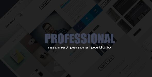 professional resume portfolio html template by themeelegant